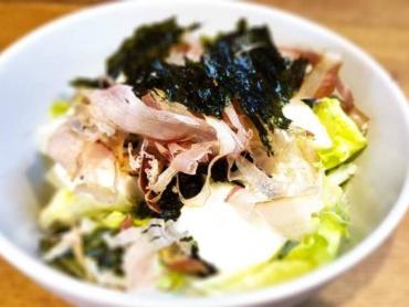 14豆腐サラダ